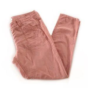 Loft • Marisa Linen Coral Pants